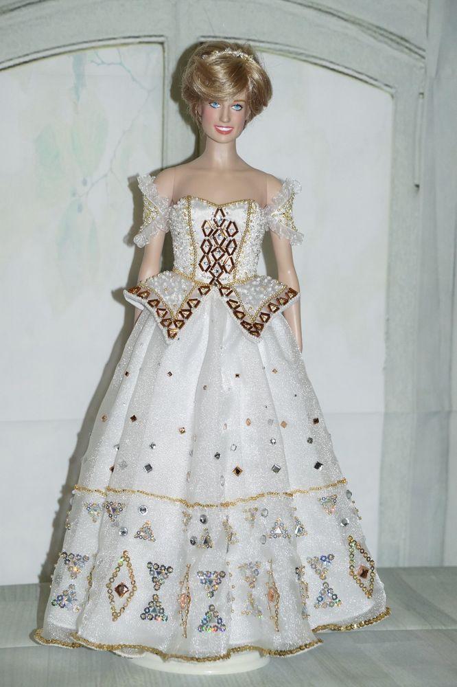 Franklin Mint Princess Diana Vinyl Doll Purple Gown For A 16 Inch Princess Diana
