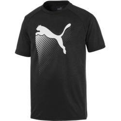 Photo of Puma Men's Training Shirt The Cat Heather Tee, Size Xl In Puma Black Heather, Size Xl In Puma Bla
