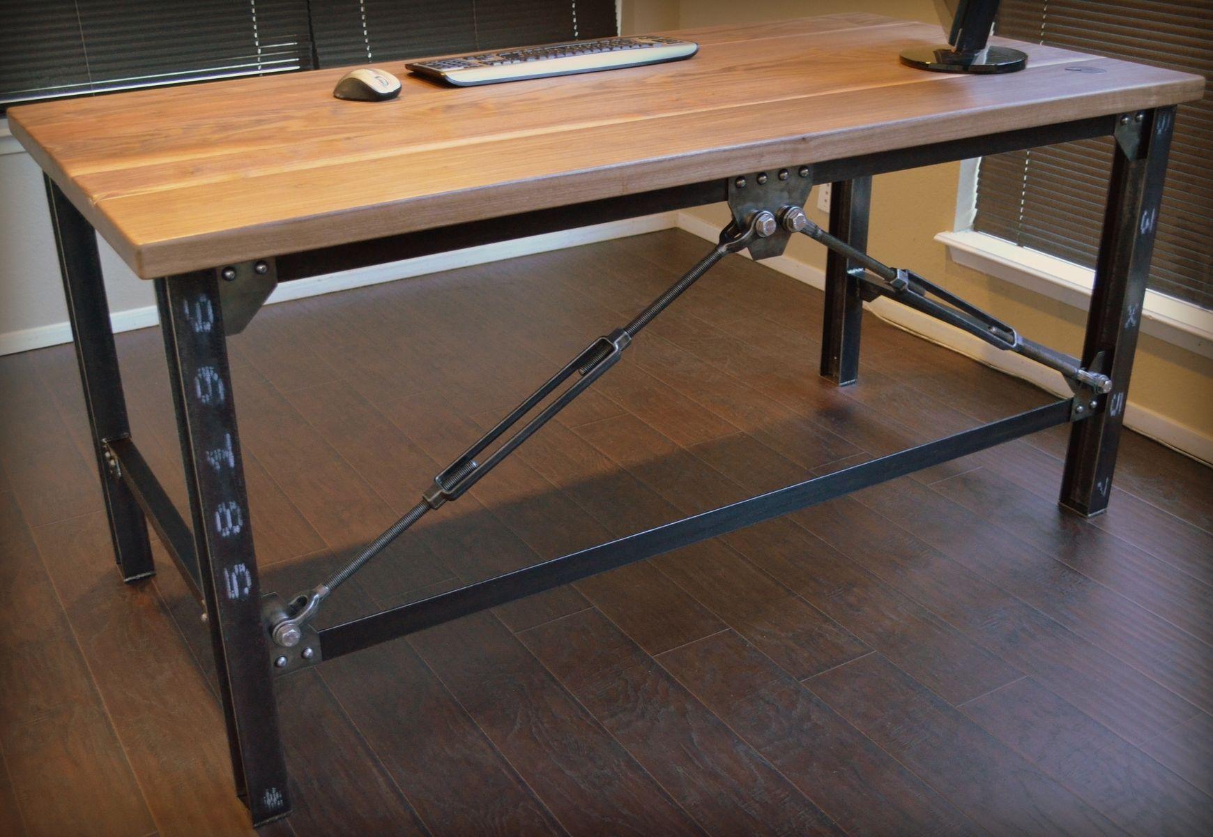 Custom Made Industrial Executive Desk By Urban Industrial Works