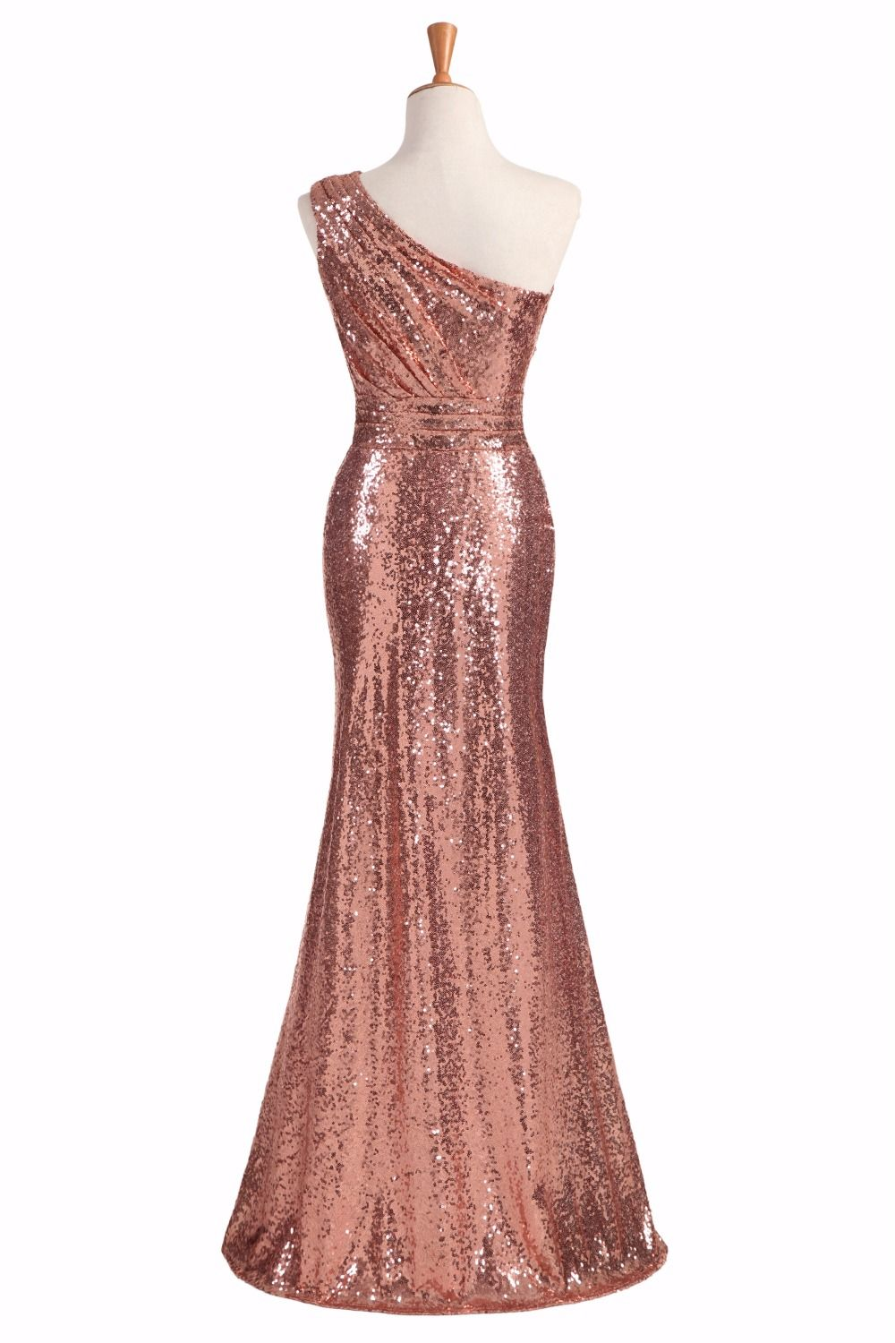 Rose gold wine red blue oneshoulder colorful sparkly long sequins