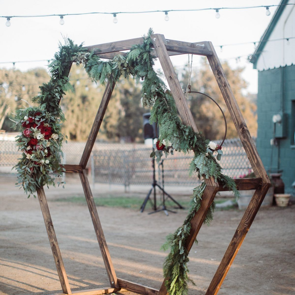 Hexagon Ceremony Arch In 2020 Wedding Arch For Sale Hexagon Wedding Wedding Arch