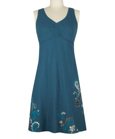 Look at this #zulilyfind! Majolica Blue Schaffer Organic Dress #zulilyfinds