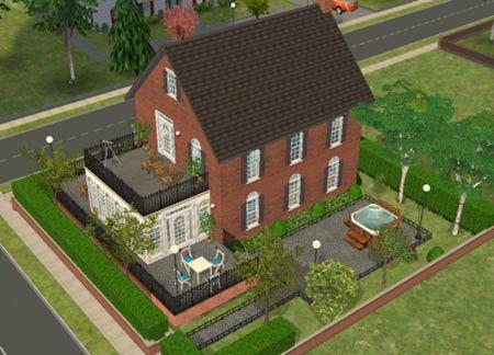 Sims 2 le tour du b timent petite maison coloniale for Plan maison coloniale