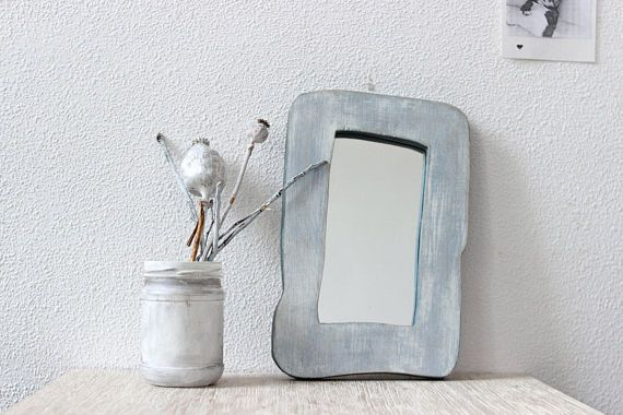 Wooden wall decorative mirror small mirror shabby chic mirror