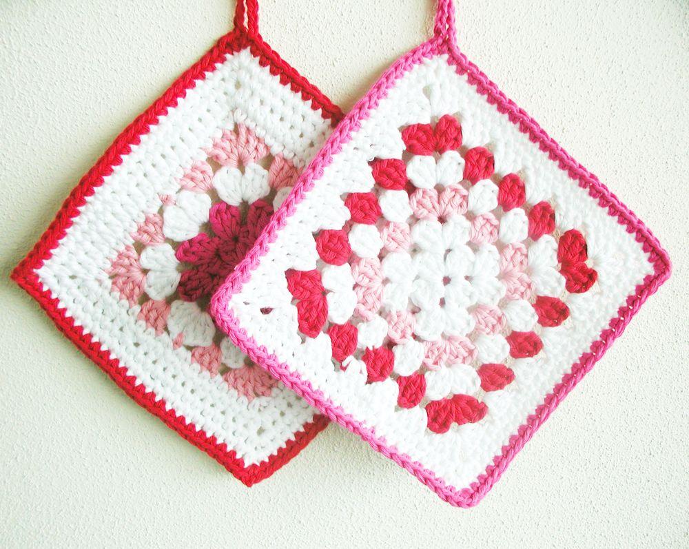 Crochet potholders free pattern crochet pinterest for Decoracion hogar a crochet