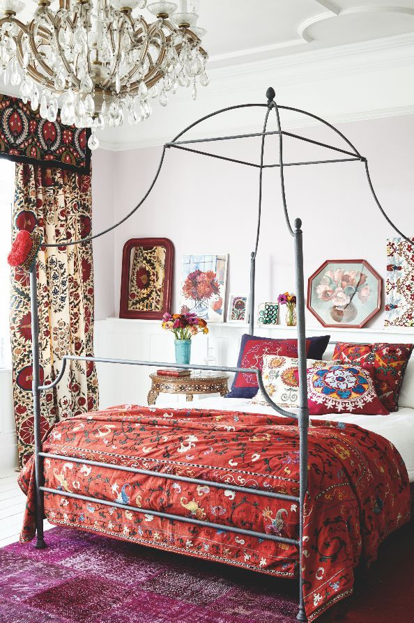 How To Decorate A Bedroom Captivating How To Decorate With Antique Asian Suzanis  Display Decorating Design Inspiration
