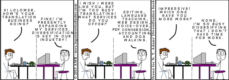 Diversification for freelance translators
