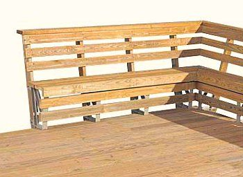 Deck Bench as Railing - everyone should do this. We had it ...