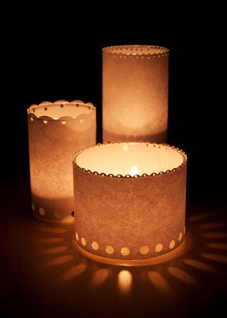 Diy candle luminaries great idea for your candle for Homemade luminaries