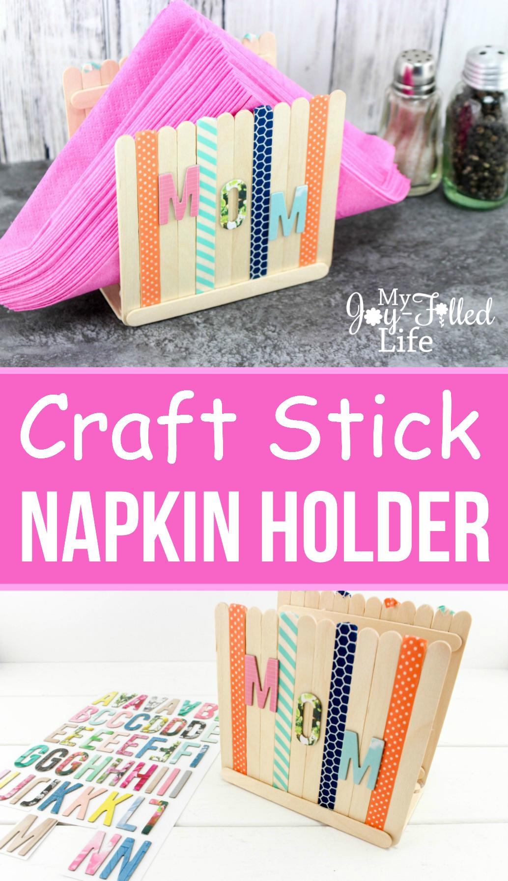 Craft Stick Napkin Holder Crafts Recipe Kids Travel Cakes