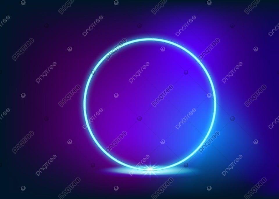 Neon Glowing Light Light Bulb Vector Neon Glow Lens Flare Effect