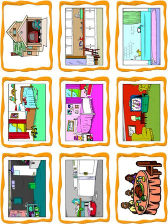 Content house garage dining room living room kitchen girl 39 s bedroom boy 39 s bedroom for Living room in french language