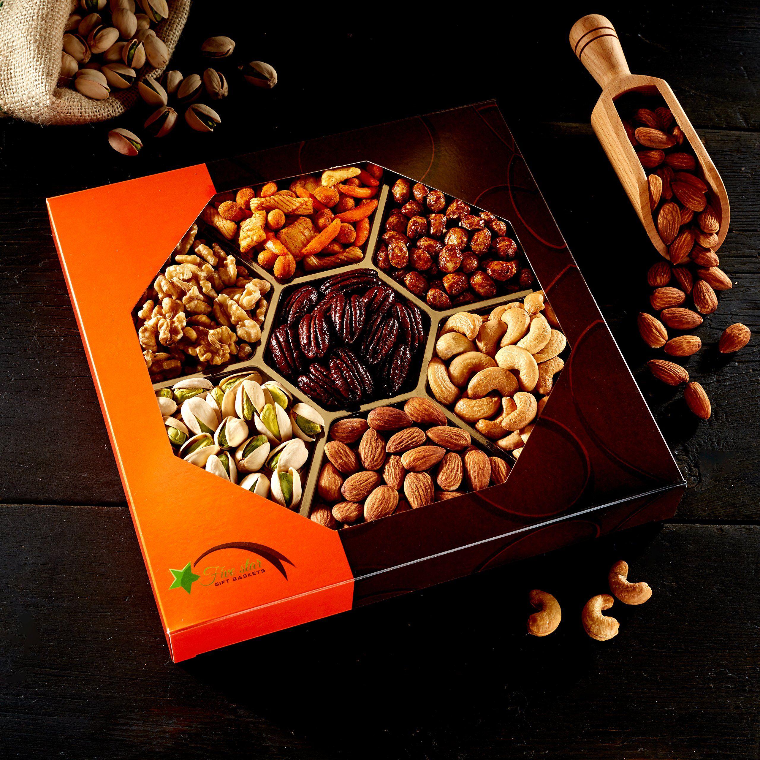 Five Star Gift Baskets Holiday Nuts Gift Basket Delightful