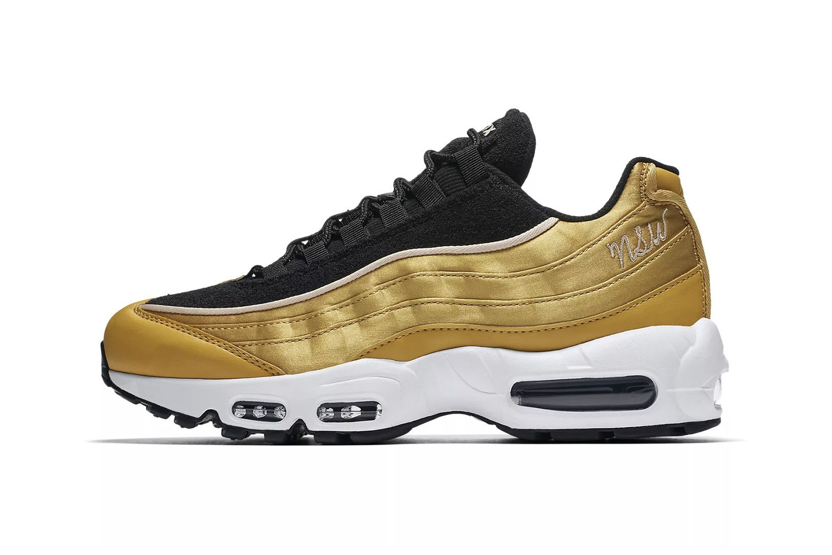 218bdd588d0bf Nike s Air Max 95 LX Just Dropped in Black and Metallic Gold in 2019 ...