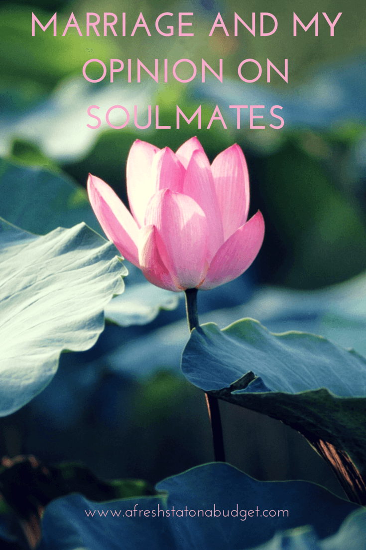 Marriage and my opinion on soul mates