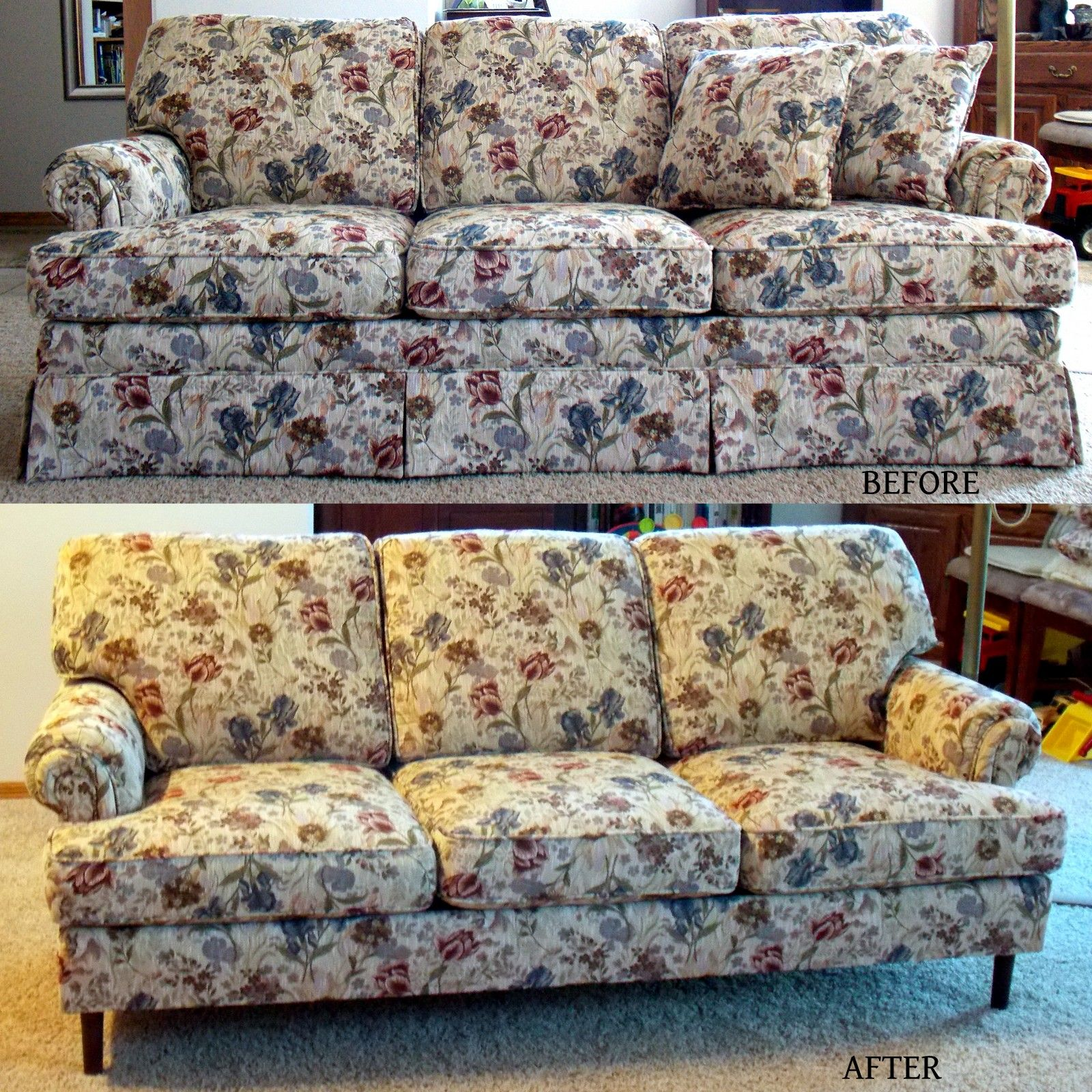 Updated My Sofa By Removing Skirt In Anticipation Of Having