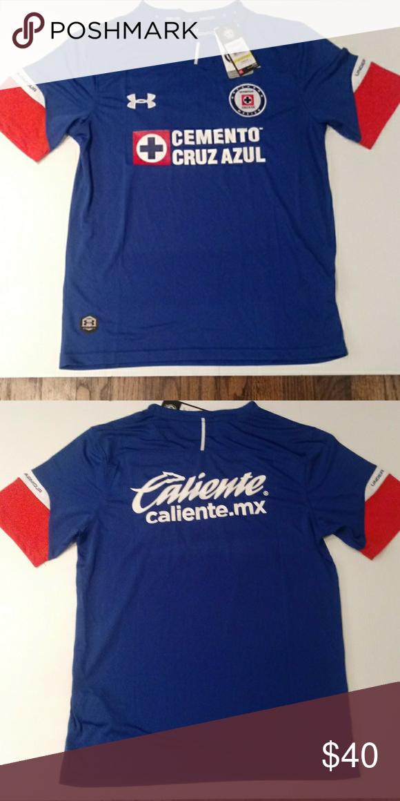 b17e765f116 Cruz azul Home Soccer Jersey La Maquina cementera Cruz Azul Home Jersey  Under Armour Shirts Tees