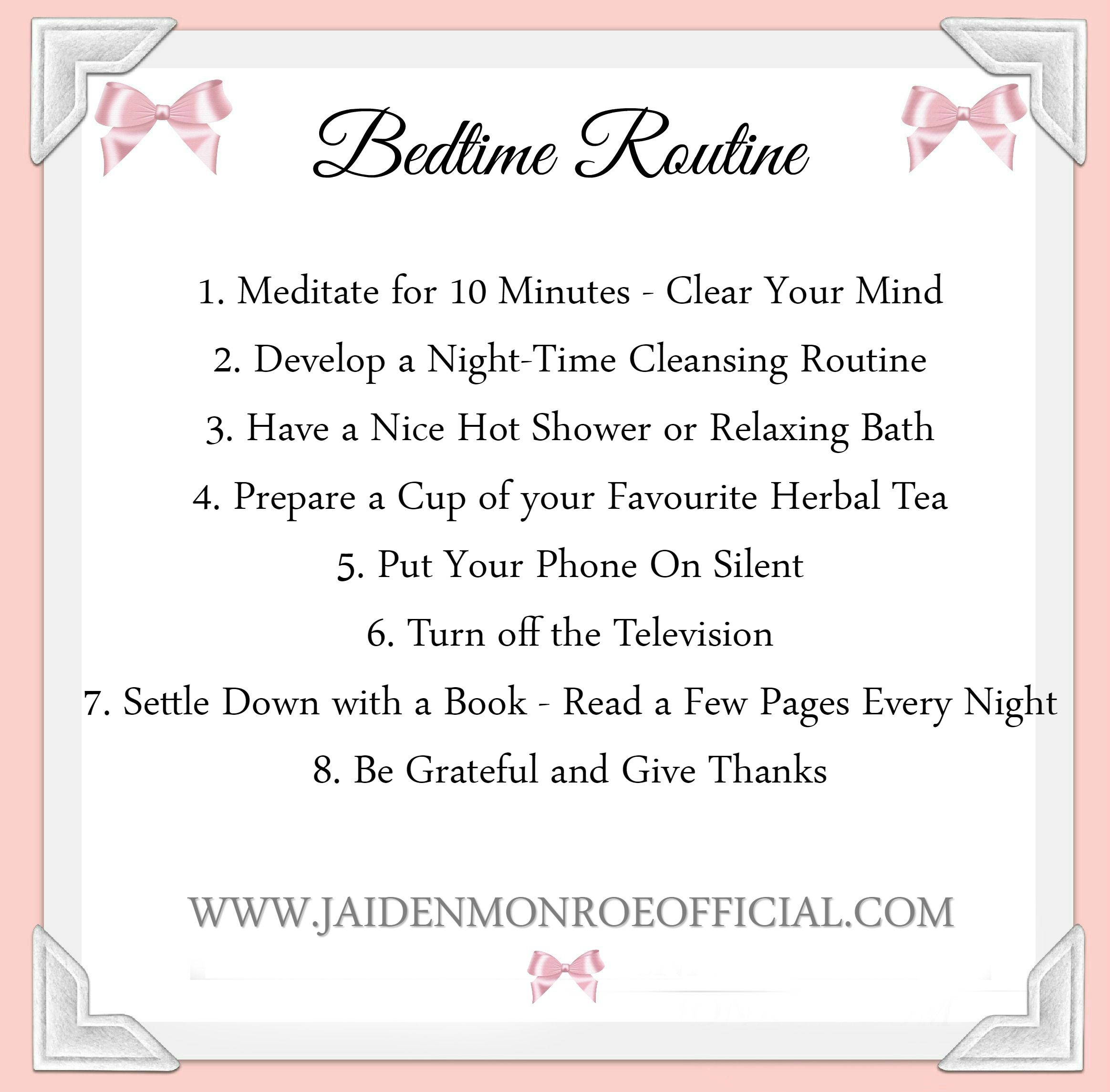 What S Your Self Care Bedtime Routine Self Love