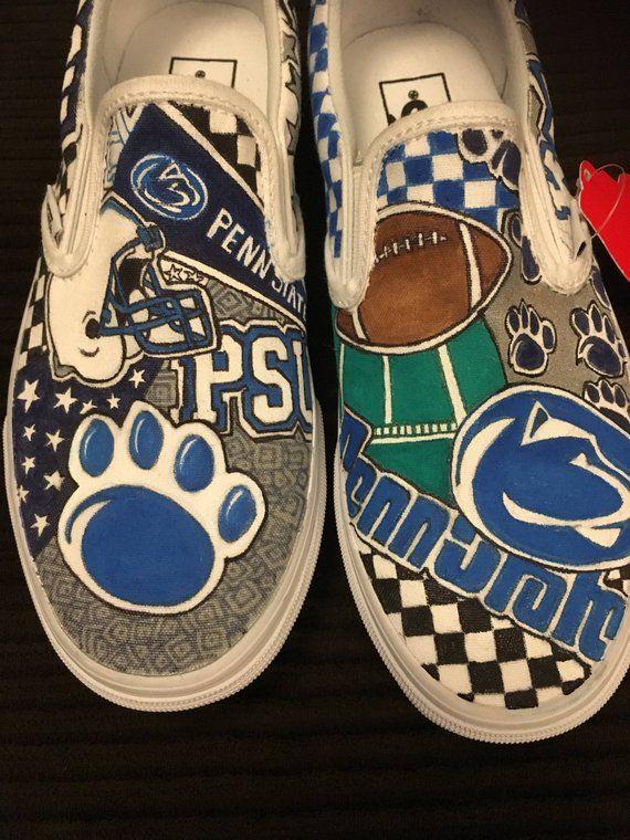 Custom Penn State Vans College shoes, Vans, Custom slip