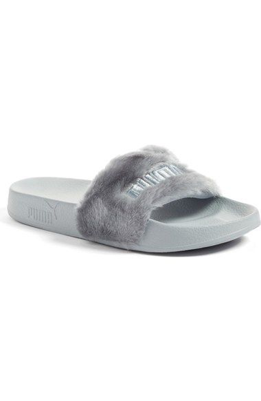 767041912 PUMA by Rihanna 'Leadcat Fenty' Faux Fur Slide Sandal (Women) available at  #Nordstrom