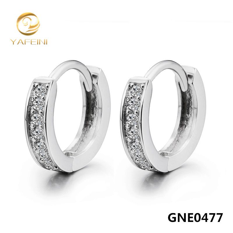 45ad0d1f5 NEW 925 Sterling Silver Earrings For Women New S925 Jewelry Small Hoop  Earrings Brincos GNE0477