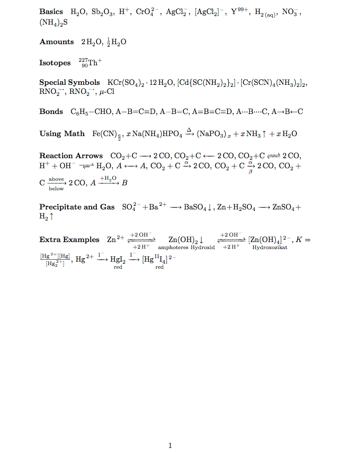 Chemical Equations Template  Tex    Equation And Template