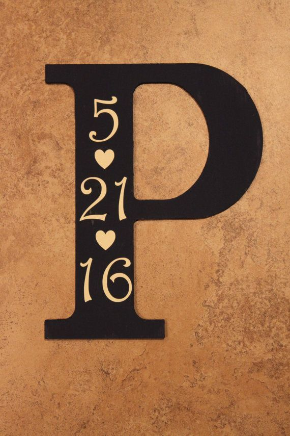 Painted Letter with Date - #date #letter #Painted