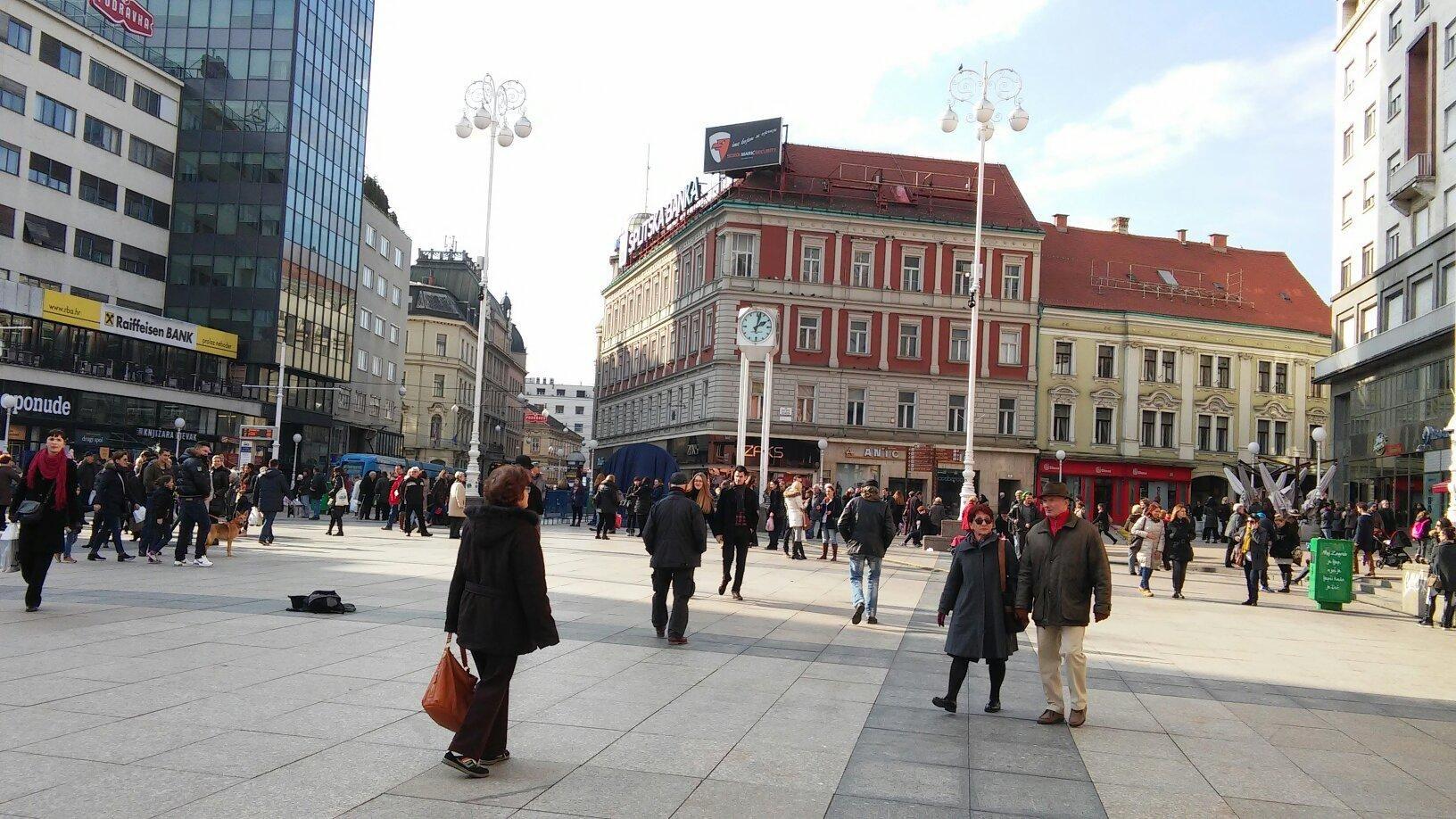 Jelacic Square Trg Bana Josipa Jelacica Zagreb Zagreb Croatia Croatia