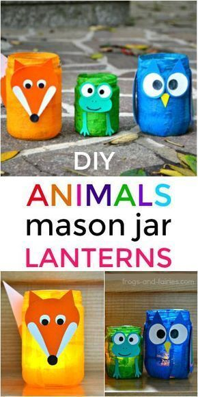 Animal Mason Jar Lanterns - Frogs and Fairies