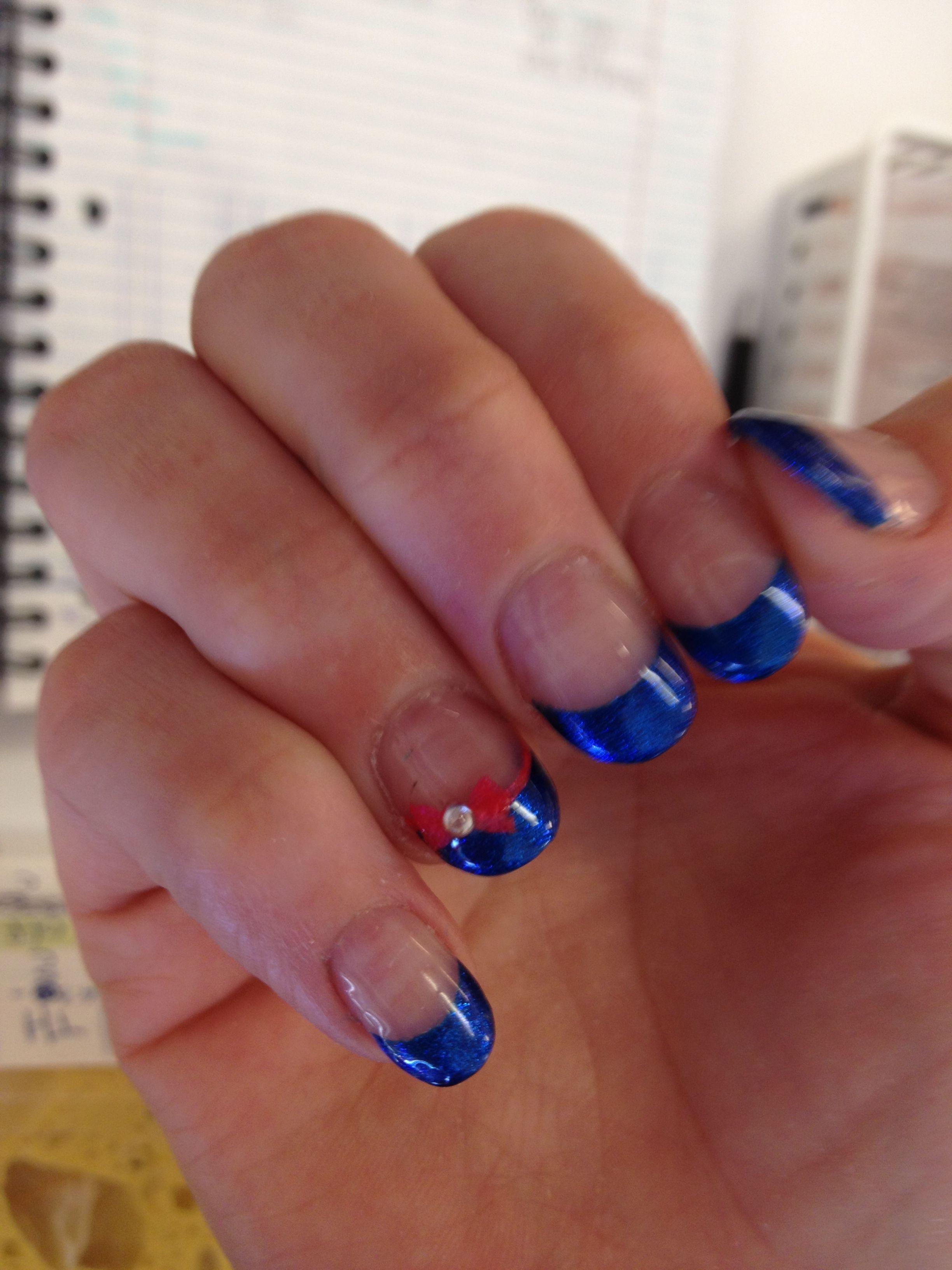 Bows Nails art @ Ocean Nails and Spa. FWB, FL.