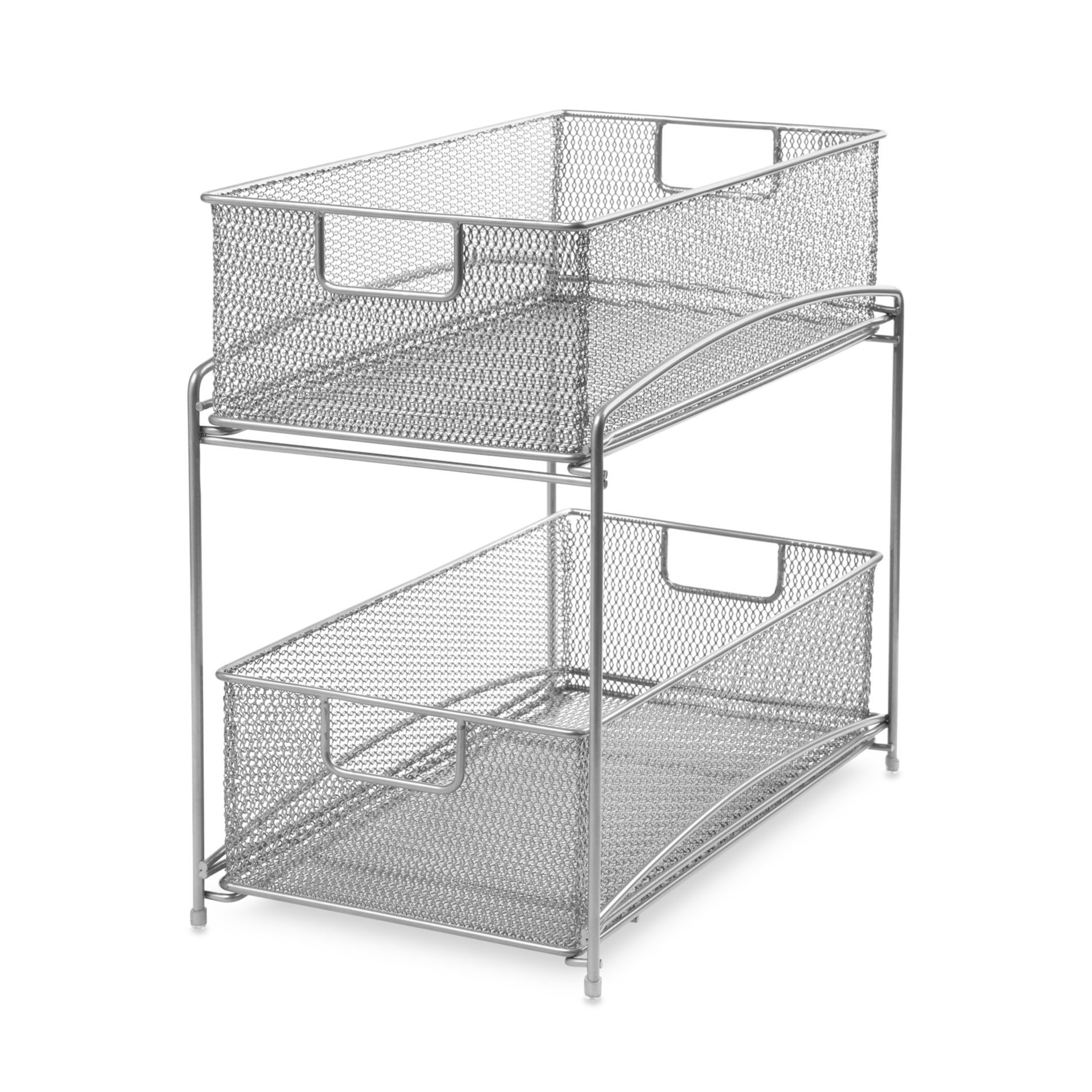 Uncategorized Sliding Basket Organizer two tier sliding basket organizer bedbathandbeyond com for organizing cleaning supplies under the
