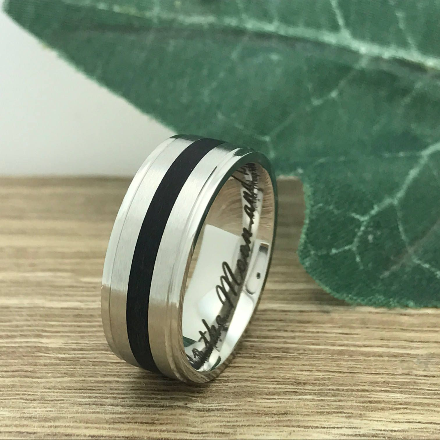 7.5mm Stainless Steel Ring, Personalize Custom Engrave