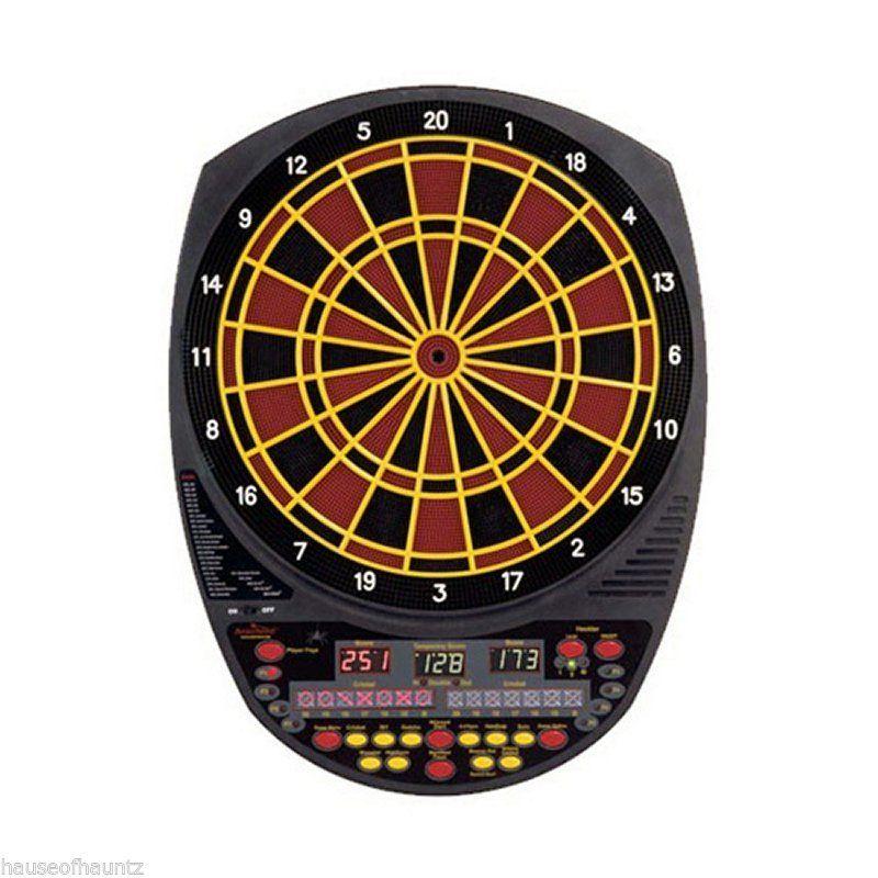 Electronic Dart Board Arachnid® Darts Game Room Dartboard Indoor Heckler Cricket #Arachnid #ElectronicTalkingDartboard
