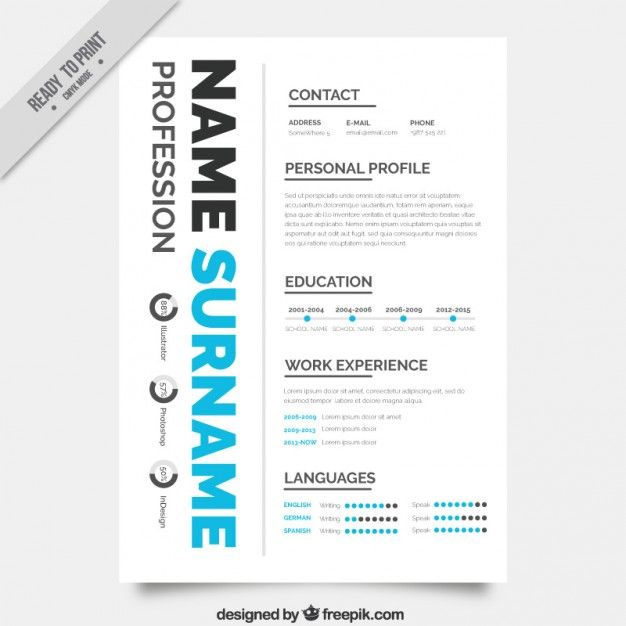 Molde Do Resumo Criativo  Resume Template Free Cv Cover Letter