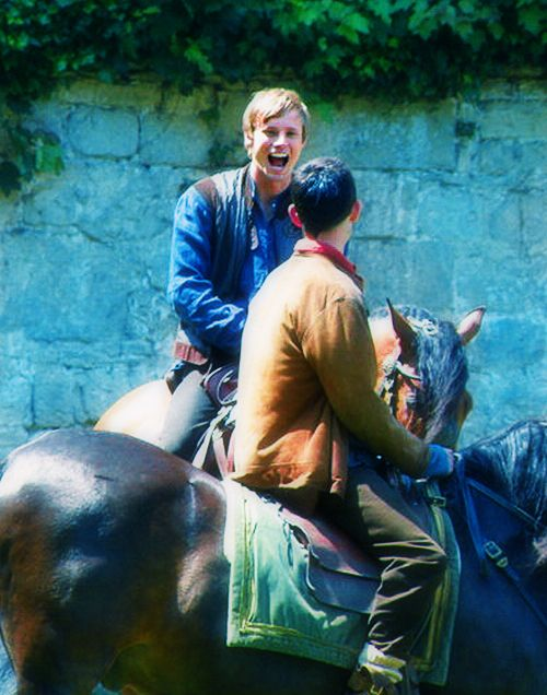 The Bromance Is Strong With These Two Merlin Merlin Fandom Merlin And Arthur