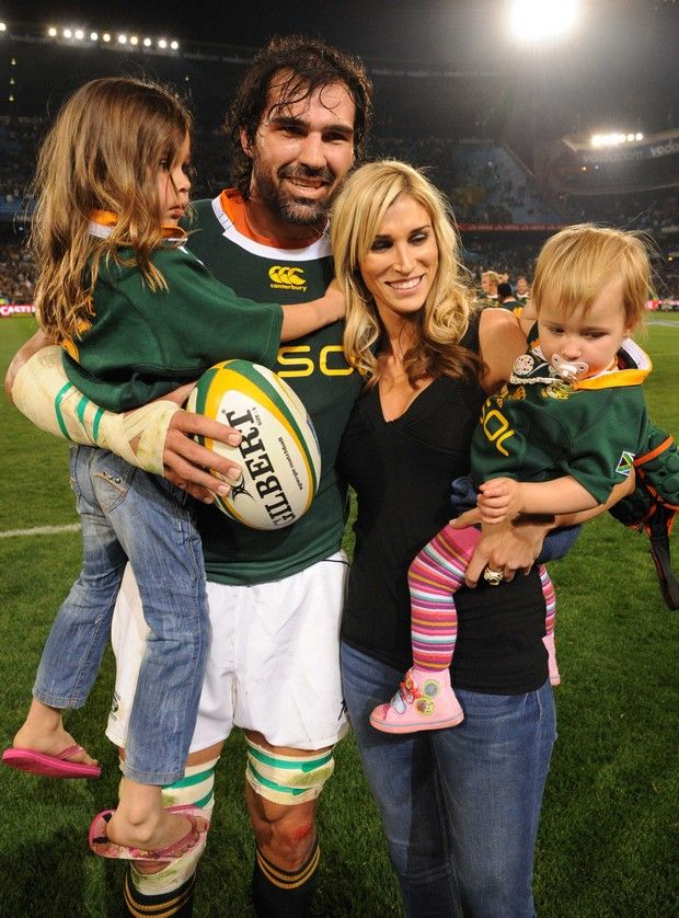 Victor Matfield and beautiful family