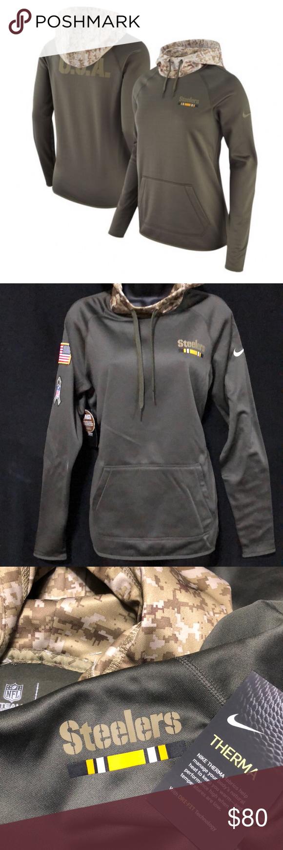 buy popular c43fd d818b 🆕 Nike Pittsburgh Steelers Performance Hoodie NWT Sport ...