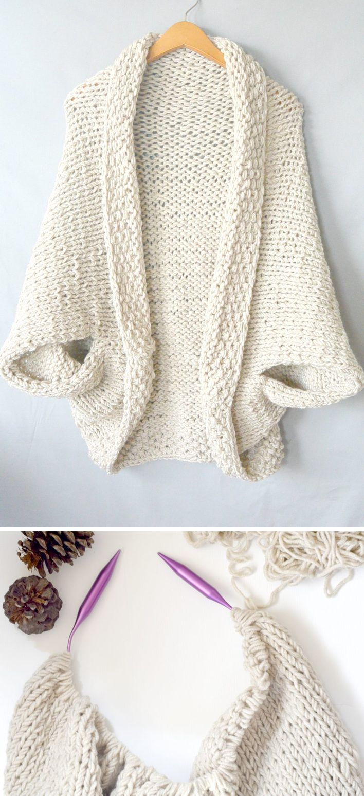 Photo of Easy Knit Blanket Sweater – kostenlose Anleitung