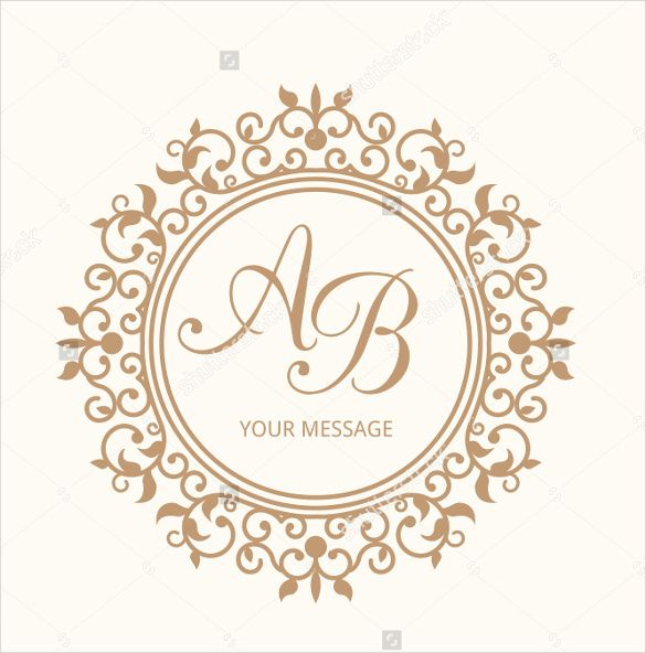 Beautiful Wedding Monogram Free Template 69 On Logo For Free With ...
