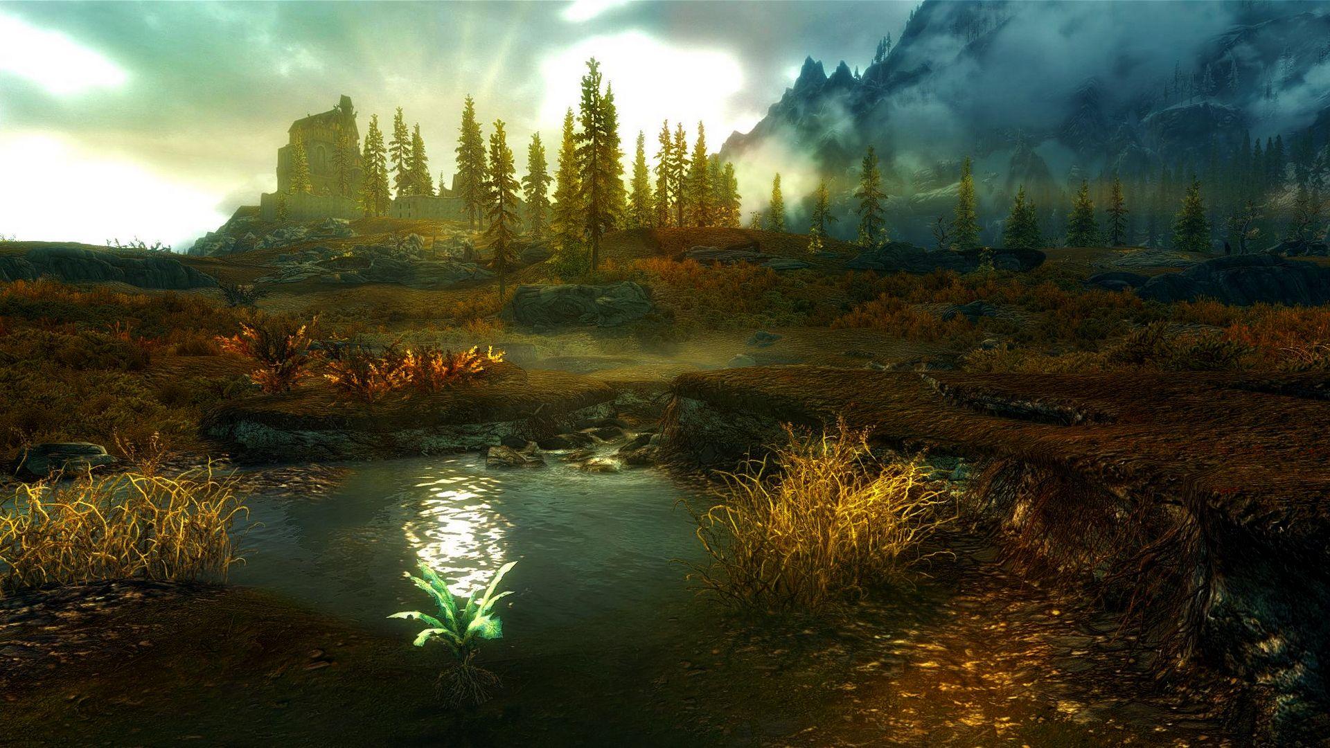 Skyrim Landscape High Quality HD Wallpaper 3d0f2