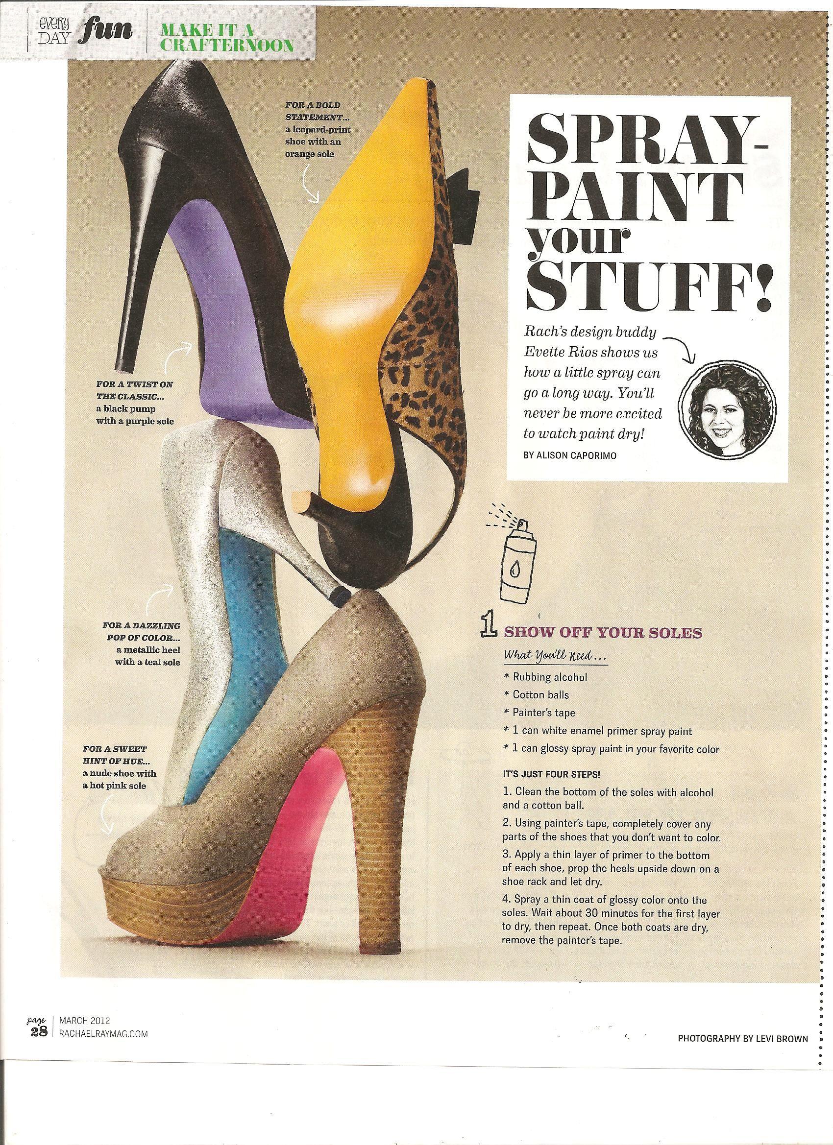 c6e31f69ee2 Spray paint heels! Must do