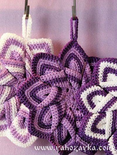 прихватка звезда Crochet Pot Holders прихватки вязание