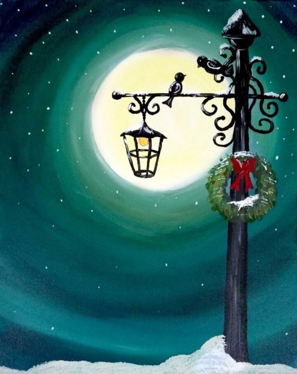 40 Simply Amazing Winter Painting Ideas Her Canvas Christmas Paintings Christmas Paintings On Canvas Christmas Canvas