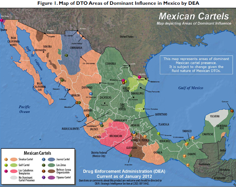 Mexican Cartel Map Google Search Nights Black Agents Amexica - Map of southern us and mexico