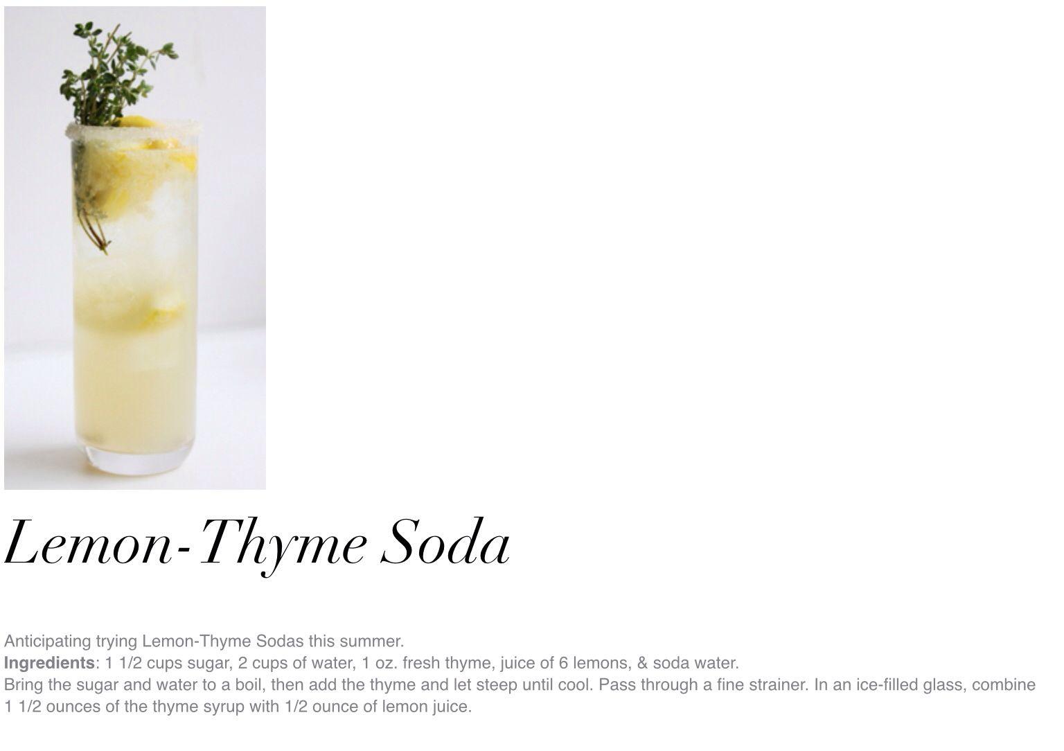 Lemon-thyme soda!