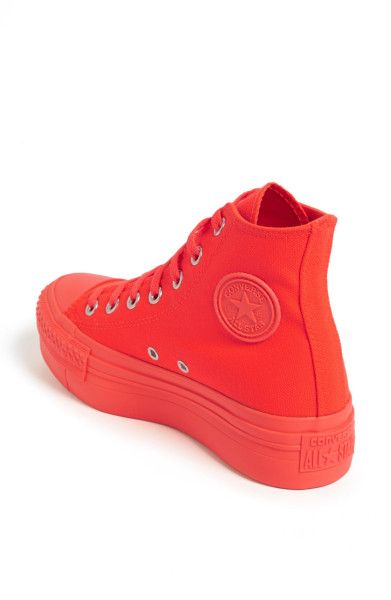 best shoes free shipping fashion styles pf flyer all red | Womens converse high tops, All red ...