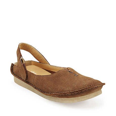 Faraway Meadow in Brown Nubuck - Womens Shoes from Clarks