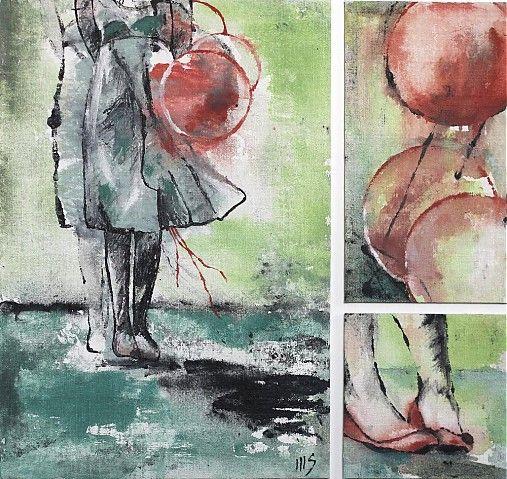 zajac / Balónová slečna, triptych