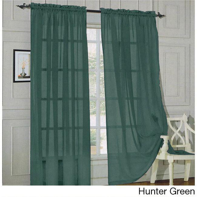 84 Inch Window Sheer Curtain Panel