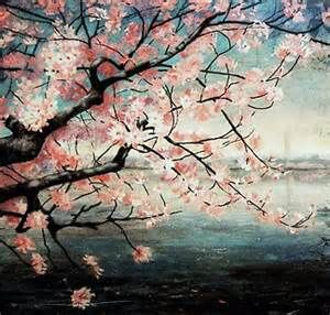 japanese cherry blossoms painting bing images